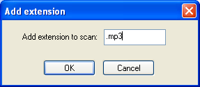 Adding MP3 extension screenshot