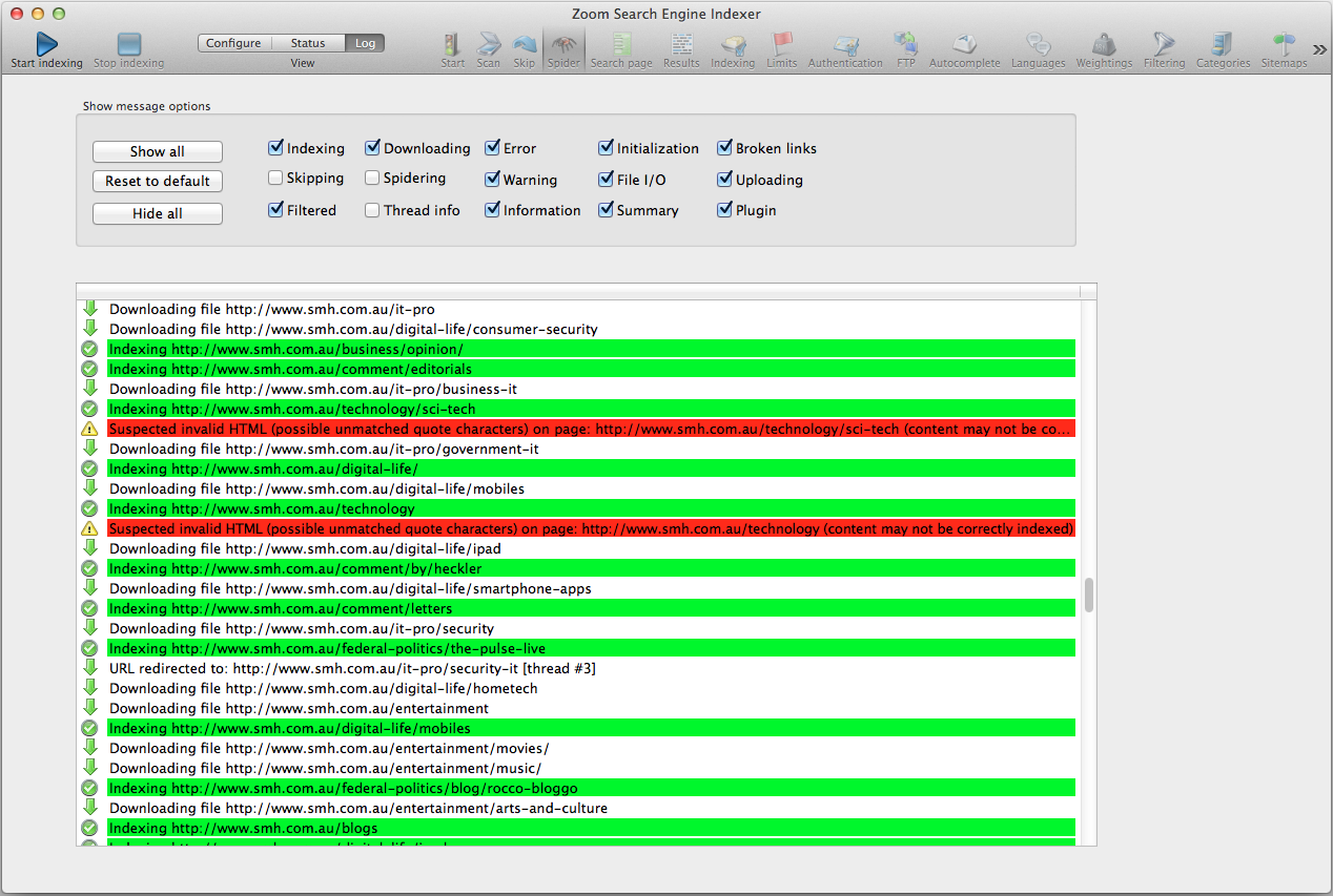 WrenSoft - Zoom Search Engine - Screenshots